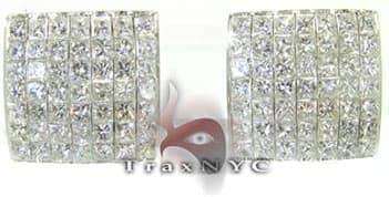 Invisible Frame Earrings Diamond Earrings For Women
