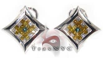 Ninja Star Earrings Mens Diamond Earrings
